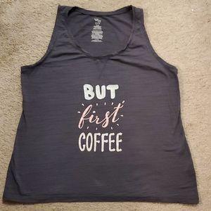 But 1st coffee tank.